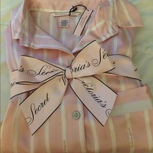 Victoria Secret silk pj set. Short and shirt